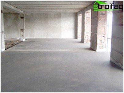 Der Betonboden in der Garage hat Vor- und Nachteile