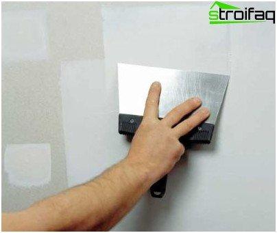 إعداد سطح الجدار