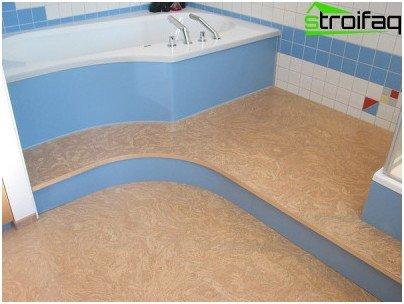 Pisos de corcho en el baño
