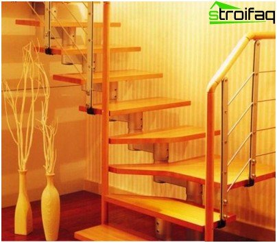 Modular stairs are elegant and easy to assemble.