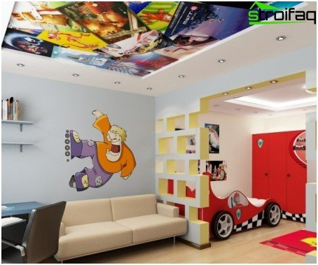 Stretch ceilings for a nursery