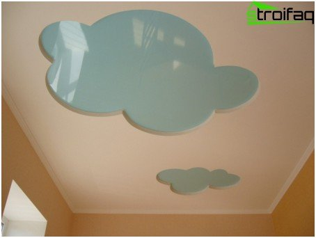 Stretch ceiling in a children's room