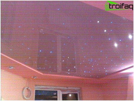 Stretch ceiling starry sky