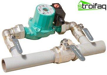 Circulation pump installation