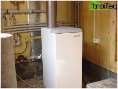 Floor gas boiler