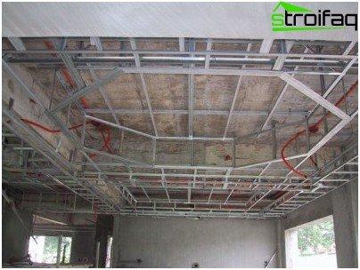 Рамка за окачен таван от гипсокартон