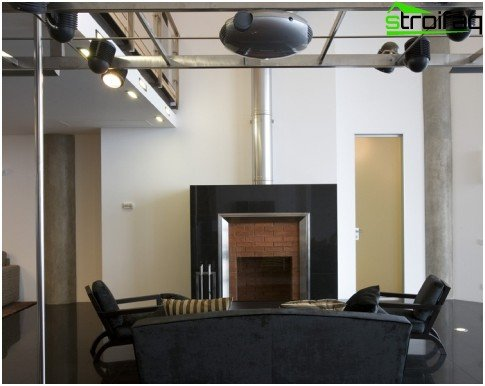 Fireplace in a hi-tack solution