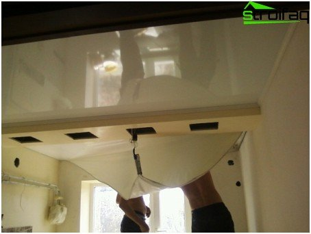 Removing the stretch ceiling