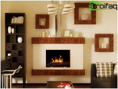 Fireplace decor can be varied