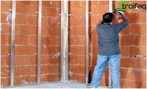 إطار الحوائط الجافة لتركيب الحوائط الجافة