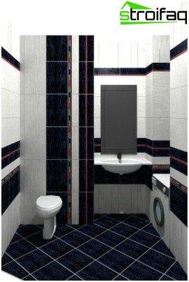 Combined tile laying method