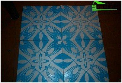 Obojene stropne pločice