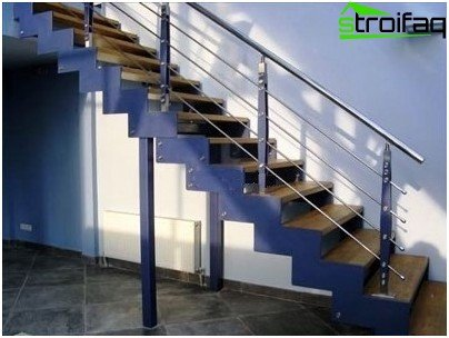 Finishing metal stairs with wood