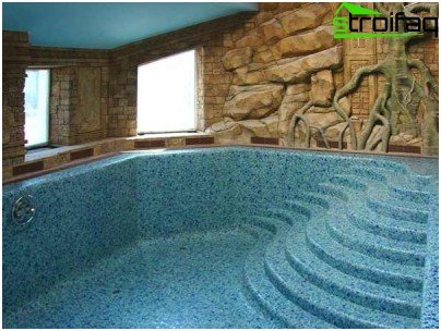 Swimming pool with roman staircase