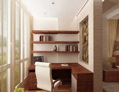 Combining a loggia with a living room