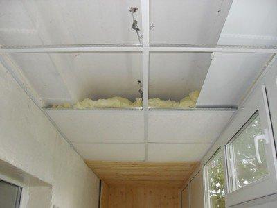 Loggia ceiling insulation