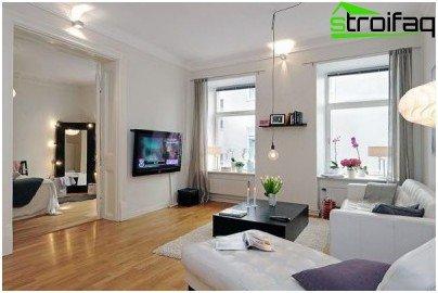 Udvid visuelt rummet i stuen