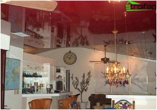 Soffitti tesi in cucina: foto №4