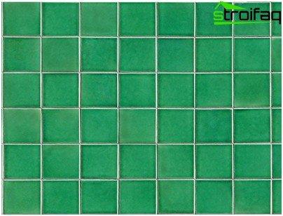 Moldura de mosaico desigual