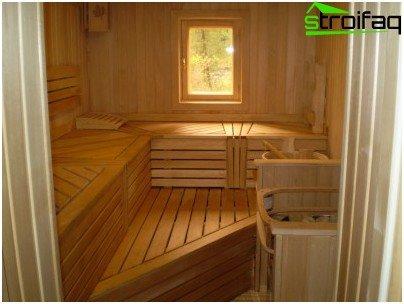 Voor het bad is de meest acceptabele raamvorm rechthoekig