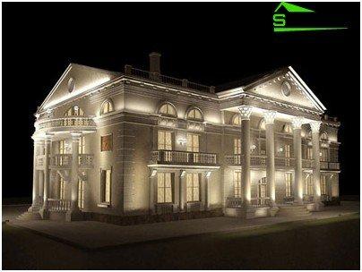 Iluminatul de fundal este tipic pentru teatre și palate