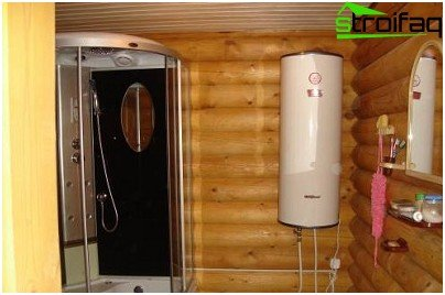 Washing room with shower