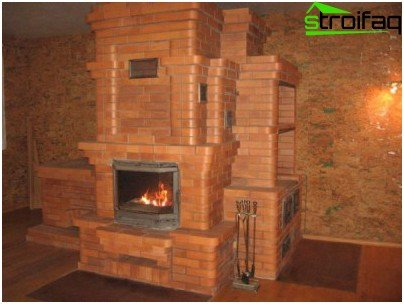 Fireplace stove in the country