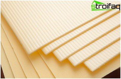 Polyethylene foam backing
