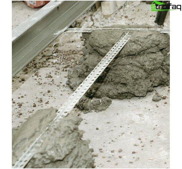 평평한 바닥을 확보하기 위해 비콘의 수평 및 강화