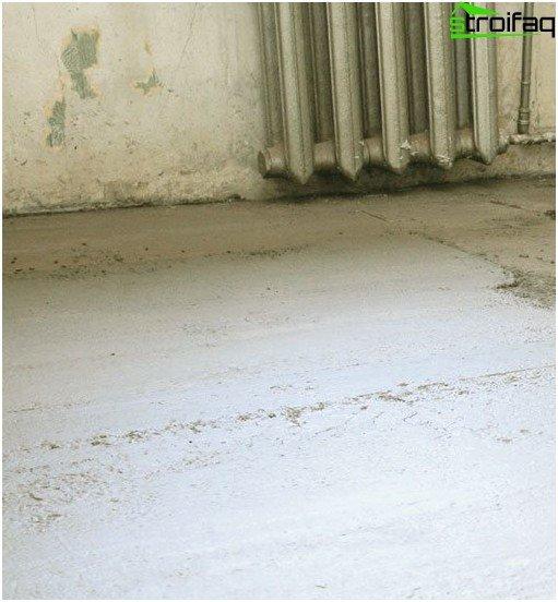 Tørring af gulvfylden