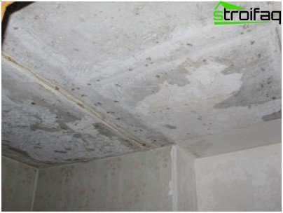 Ceiling surface cleaning
