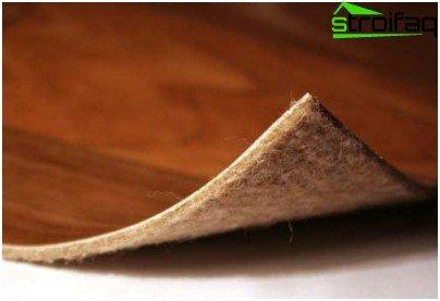 Felt-based PVC coating