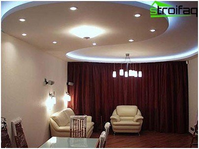 Illuminated drywall ceiling