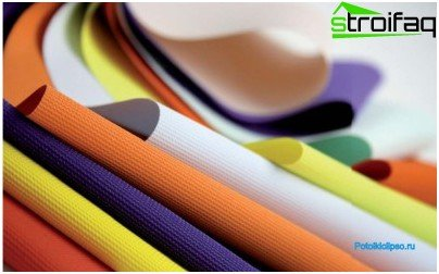 Colors of fabric stretch ceilings
