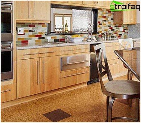 Cork floor for the kitchen