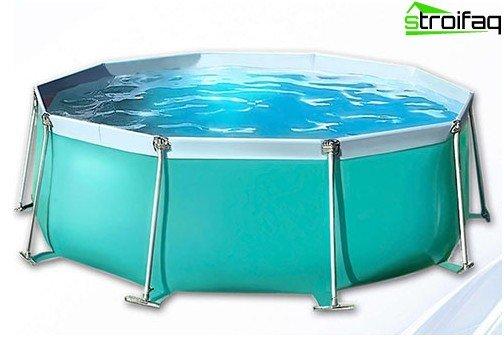 Sammenfoldelig pool til et bad