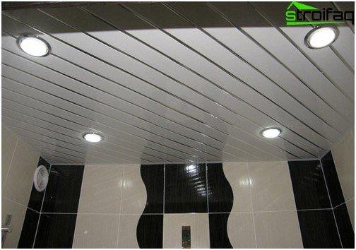 Rezani strop s reflektorima