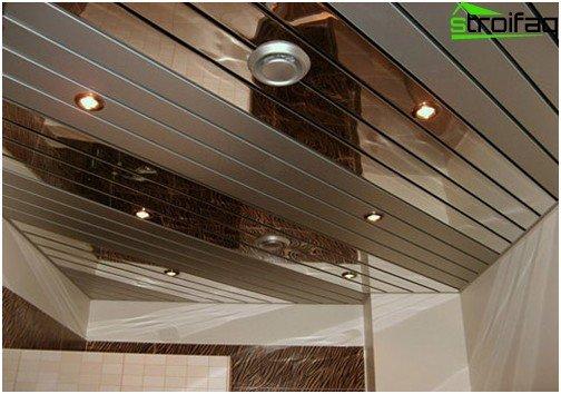 Rezani strop za kupaonicu - utjelovljenje bilo koje ideje