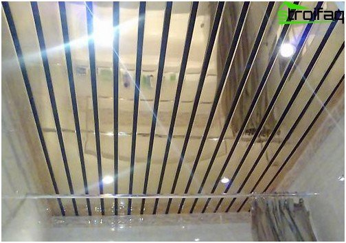 Slatted ceilings for the bathroom: photo №2