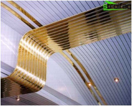 Interesting slatted ceilings