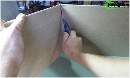 كيفية قطع ورقة دريوال 4 مراحل من العمل بشكل صحيح