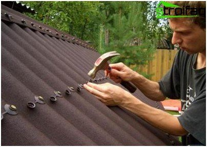 Repair of a roof from a metal tile