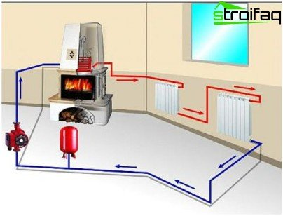 Water heating system diagram