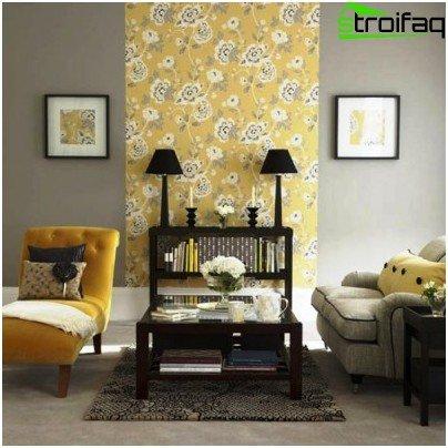 Маркирайте секция за стена с текстура или цвят