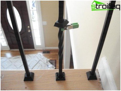 The method of fastening forged balusters to the supporting base and railing is usually offered by the manufacturer