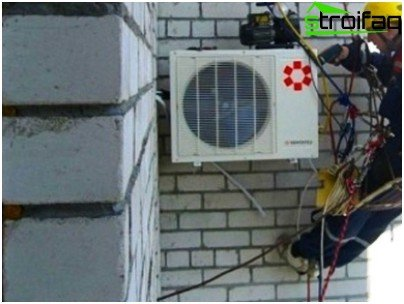 Installing an outdoor air conditioner: installing an outdoor unit