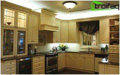LED traka u unutrašnjosti kuhinje