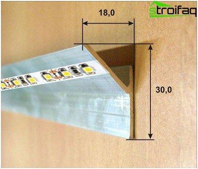 Aluminijski kut za LED traku