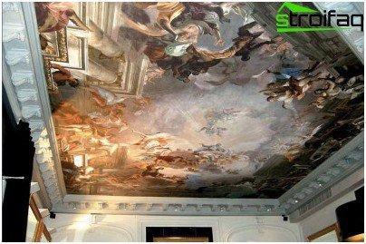 Stretch seamless ceiling