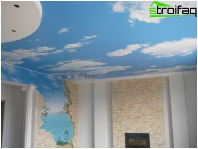 Seamless stretch fabric ceiling